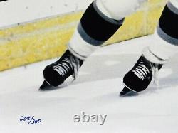 Wayne Gretzky Los Angeles Kings Signé Le 16x20 Photo Deck Supérieur Authentifié