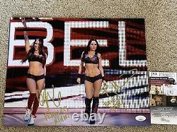 Wwe Bella Twins Nikki & Brie Signé 11x14 Autographe Photo Jsa Authentifié