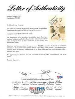 Yankees Babe Ruth Authentic Signé 3.75x5.75 Photo Swinging The Bat Psa #m86121