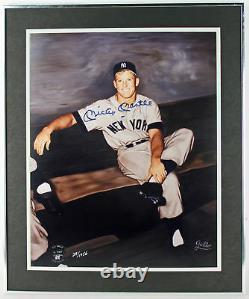Yankees Mickey Mantle Authentique Signés Et Encadrée 16x20 Lmt Ed Photo Jsa # X44221